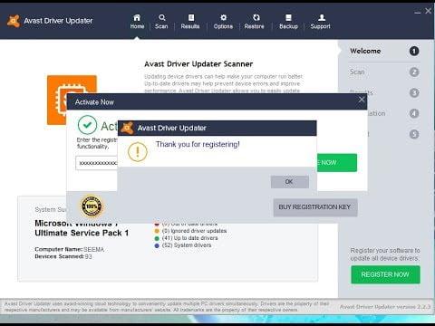 Avast Driver Updater key
